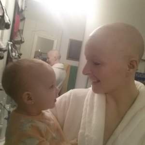 bald in robe