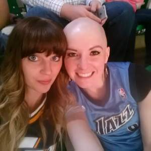 bald with friend