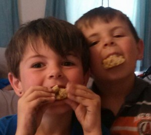 Boys Eating Cookies
