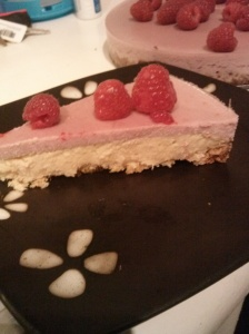 Paleo Raspberry Pina Colada Cheesecake With A Macaroon Crust