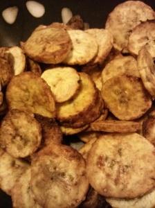 Sweet Ginger Garlic Plantain Chips