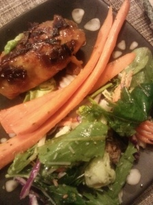 plated chicken dinner