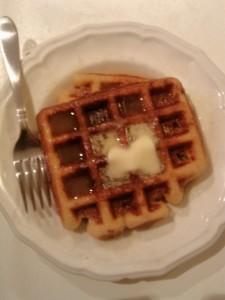 Pina Colada Waffles And Syrup