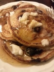 Coconut/Tapioca Flour Blueberry Pancakes