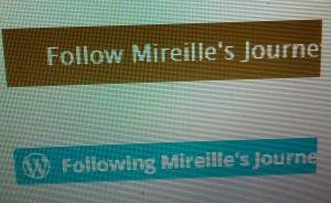 Look at the sidebar on the right and click the Follow Icon to follow Mireille's Journey To Health.