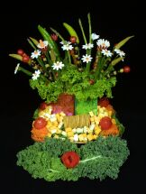 Photo courtesy of http://www.veggiebouquet.com/bouquet.html where they sell awesome kits to make neat veggie bouquets like this one!