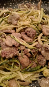 Paleo Creamy Beef And Mushroom Zoodles